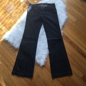 7 For All Mankind Dojo Denim Dark Wash Size 27